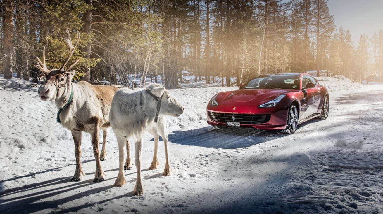 Ferrari am Arctic Circle